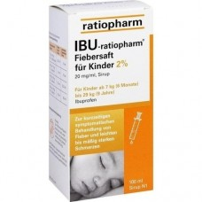IBU RATIOPHARM Fiebersaft für Kinder 20 mg/ml 100 ml