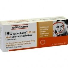 IBU RATIOPHARM 200 mg akut Schmerztbl.Filmtabl. 10 St
