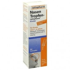 NASENTROPFEN ratiopharm Kinder Konservier.frei 10 ml