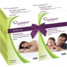 CYCLOTEST fertile Set Mikronährstoffe Kapseln 1 P