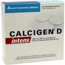 CALCIGEN D intens 1000 mg/880 I.E. Kautabletten 20 St