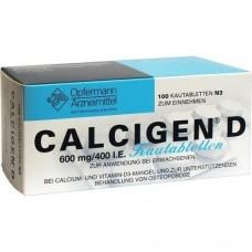 CALCIGEN D 600 mg/400 I.E. Kautabletten 100 St