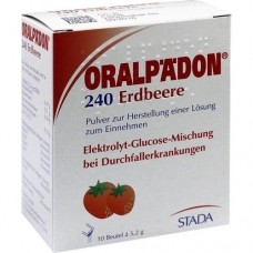 ORALPÄDON 240 Erdbeere Btl. Pulver 10 St