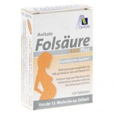 FOLSÄURE 400 Plus B12+Jod Tabletten 120 St