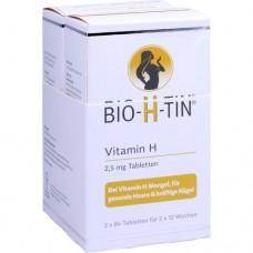 BIO-H-TIN Vitamin H 2,5 mg für 2x12 Wochen Tabl. 2X84 St