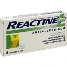 REACTINE duo Retardtabletten 6 St