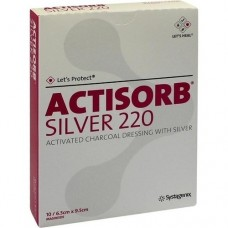 ACTISORB 220 Silver 6,5x9,5 cm steril Kompressen 10 St