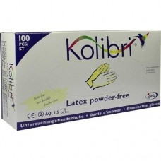 KOLIBRI Untersuch.Handschuhe Latex puderfrei Gr.M 100 St