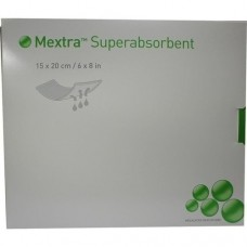 MEXTRA Superabsorbent Verband 15x20 cm 10 St