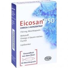 EICOSAN 750 Omega-3 Konzentrat Weichkapseln 60 St