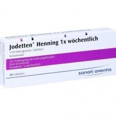 JODETTEN Henning 1x wöchentlich Tabletten 14 St