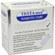 TESTAMED GlucoCheck Plus Blutzuckermessstreifen 50 St