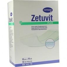ZETUVIT Plus extrastarke Saugkompr.steril 10x10 cm 10 St