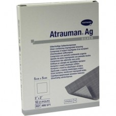 ATRAUMAN Ag 5x5 cm steril Kompressen 10 St