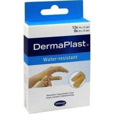 DERMAPLAST water-resistant Pflasterstrips 2 Größen 20 St