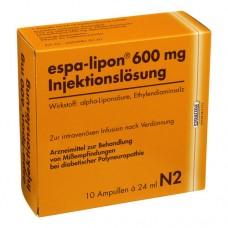 ESPA LIPON Inj. 600 Ampullen 10X24 ml