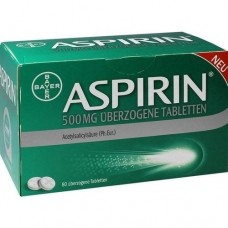 ASPIRIN 500 mg überzogene Tabletten 80 St