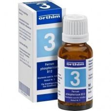 BIOCHEMIE Globuli 3 Ferrum phosphoricum D 12 15 g