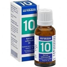 BIOCHEMIE Globuli 10 Natrium sulfuricum D 6 15 g