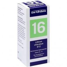 BIOCHEMIE Globuli 16 Lithium chloratum D 12 15 g
