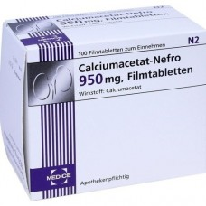 CALCIUMACETAT NEFRO 950 mg Filmtabletten 100 St