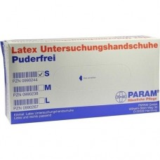 HANDSCHUHE Einmal Latex puderfrei S 100 St
