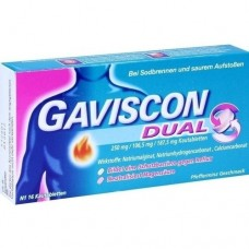 GAVISCON Dual 250mg/106,5mg/187,5mg Kautabletten 16 St