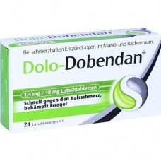 DOLO-DOBENDAN 1,4 mg/10 mg Lutschtabletten 24 St